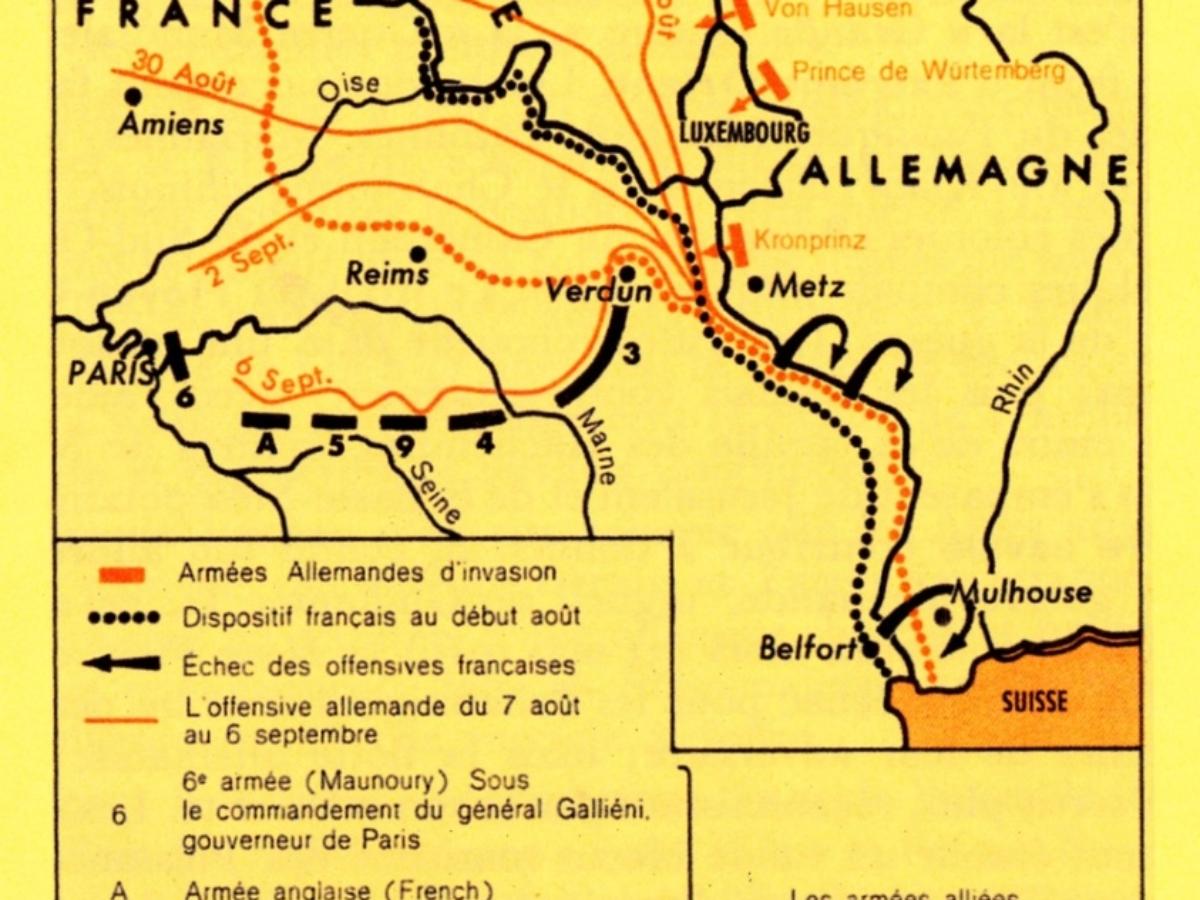 Le front occidental en 1914
