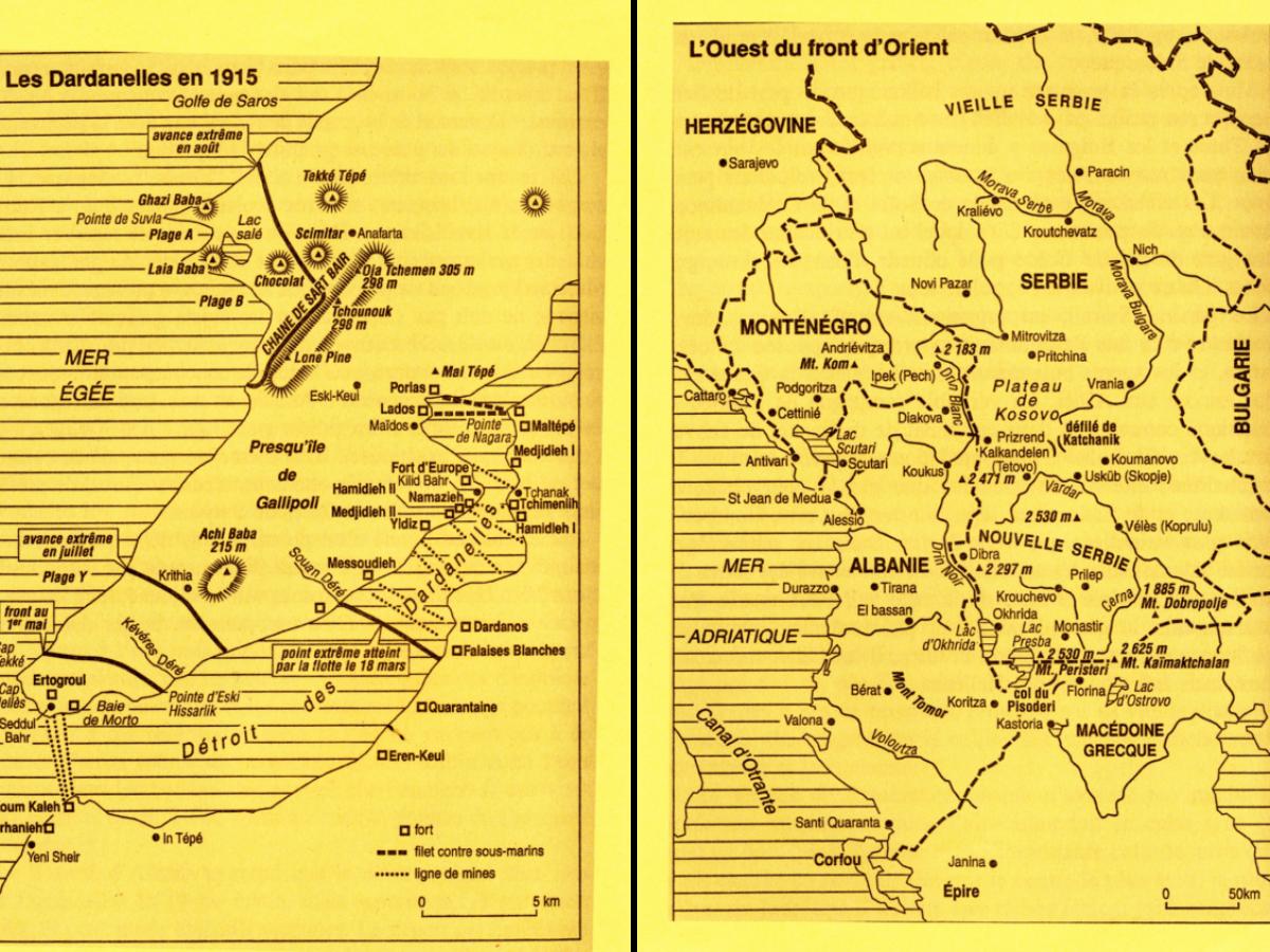 Les Dardanelles en 1915 et l'Ouest du front d'Orient