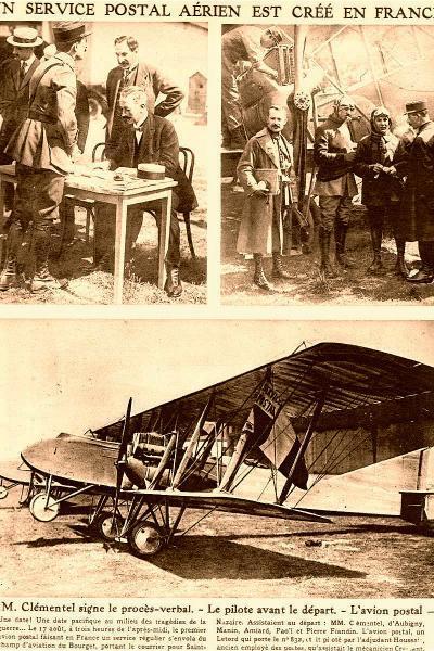 Un service postal aérien est créé en France